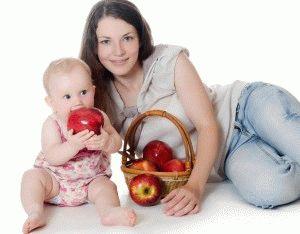 Яблоки при гв