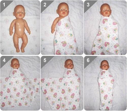 как правильно пеленать новорожденного ребенка