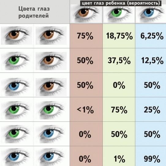 почему у новорожденных меняется цвет глаз