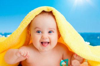 солнечное закаливание детей до года