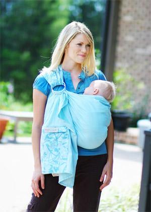 слинг для новорожденного с кольцами видео инструкция img-1
