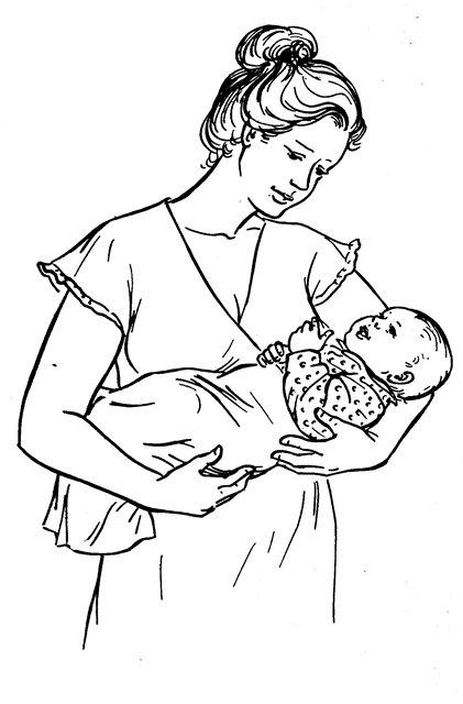 Раскраска новорожденные