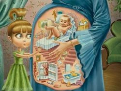 ребенок живет в мамином животике