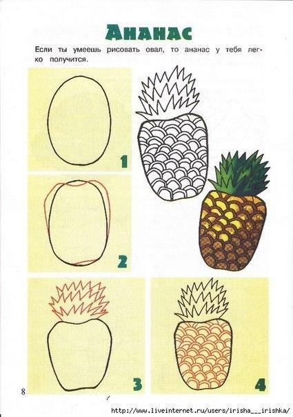 рисуем ананас
