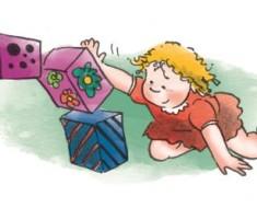 Igry malysha s predmetami obihoda