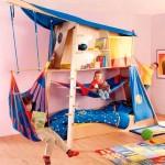Детская кровать с игровым домиком фото