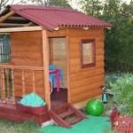 игровой домик для детей из дерева