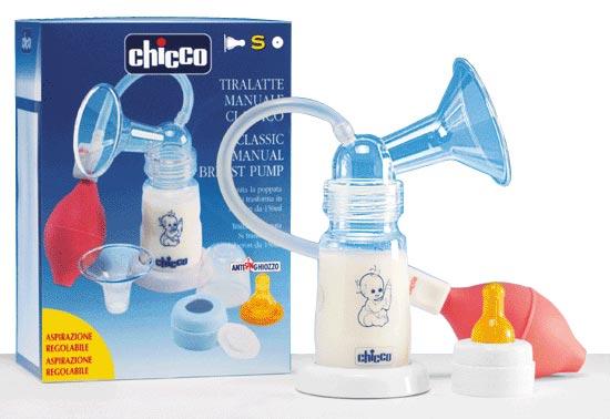 молокоотсос Chicco помповый с бутылочкой