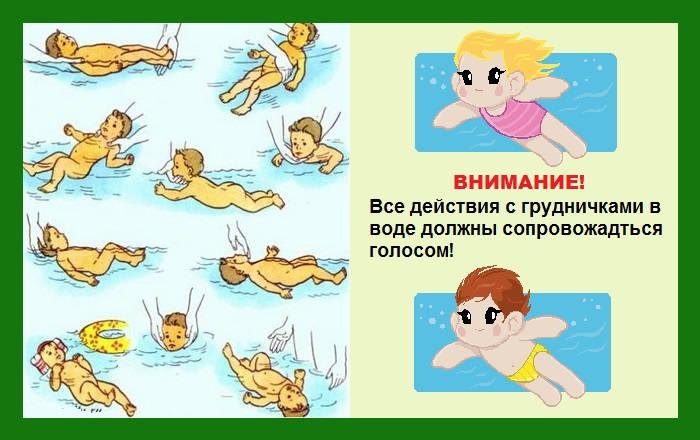 правила грудничкового плавания