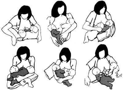 кормим грудью двойняшек