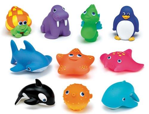 резиновые-игрушки-для-ванны-морские-животные