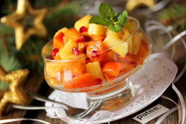 фруктовый салат с хурмой
