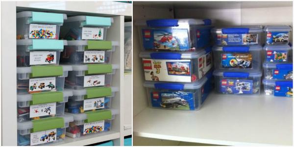 как хранить детали Lego дома