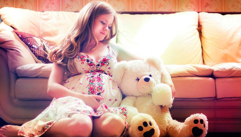 беременность фотосессия дома