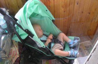 сон ребенка на балконе
