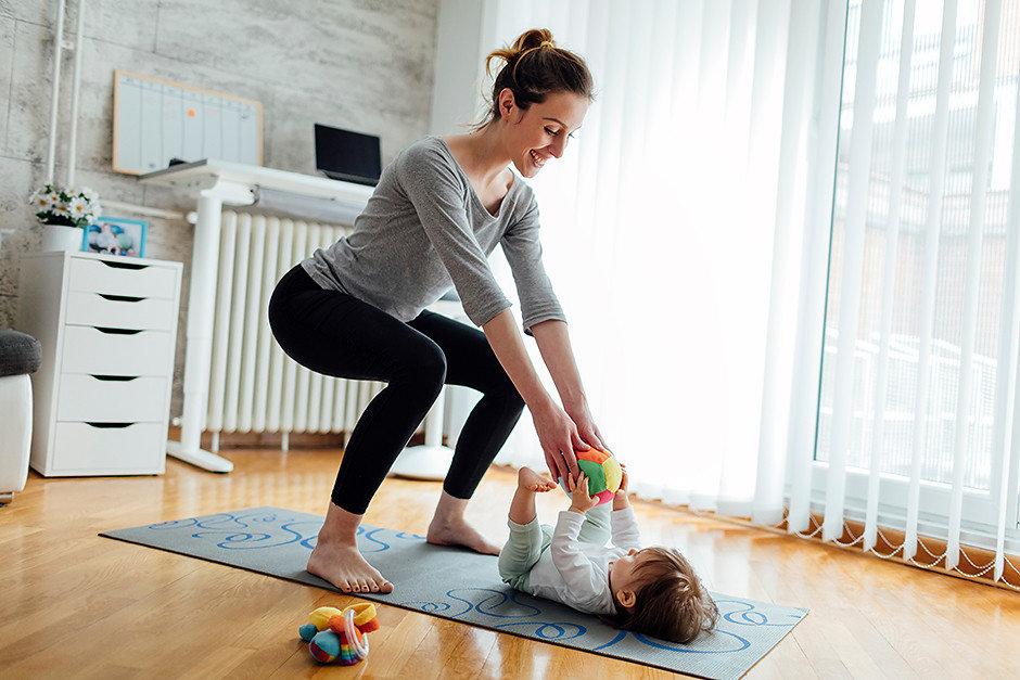 фитнес с ребенком до года