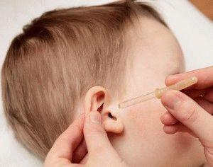как закапывать капли ребенку в ухо
