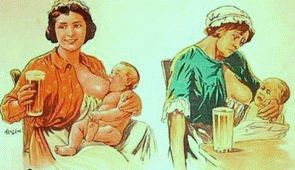 алкоголь при кормлении грудью