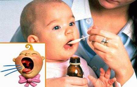 Сухой кашель у грудного ребенка