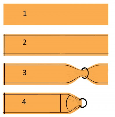 1. Берем ткань 2.20 м на 80 см ( желательно саржевого, жаккардового плетения – которая тянется немного по диагонали ) и 2 надежных кольца (диаметр не менее 6 см) 2. Обрабатываем 3 края лоскута, чтобы не осыпалась ткань 3. Продеваем ткань в кольца 4. Пристрочить край к основному полотну, закрепить кольца несколькими швами