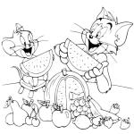 Том и Джерри едят фрукты