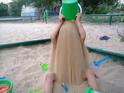 ребенок-песок