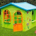 пластиковый детский игровой домик для дачи