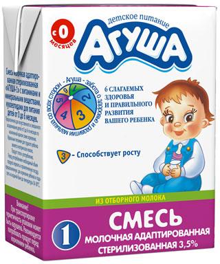 молочко агуша