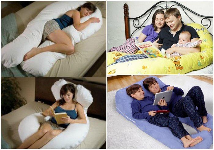 как еще использовать подушку для беременных