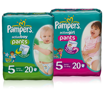 Pampers Active Girl и Active Boy