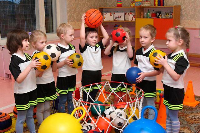 спортивные занятия в детском саду