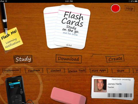 приложение flashcards