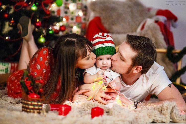 новый год с новорожденным