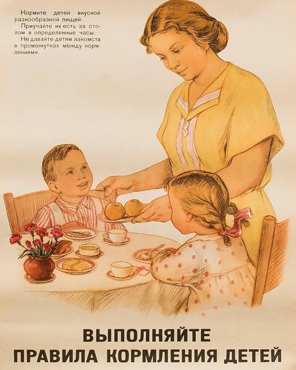правила кормления детей в ссср