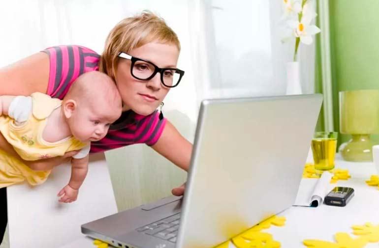 мама в интернете