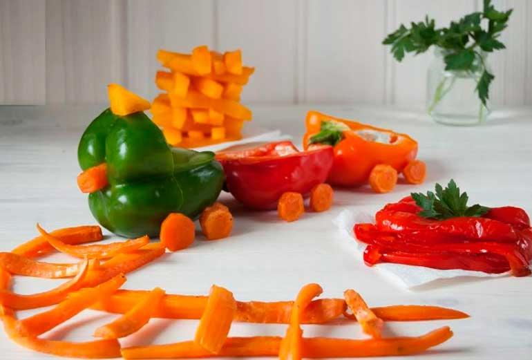 красивые блюда из овощей для ребенка