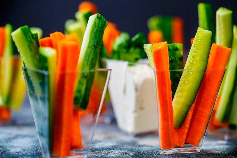 снеки из овощей для ребенка
